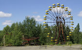 Children playground in Chornobyl — Stock Photo