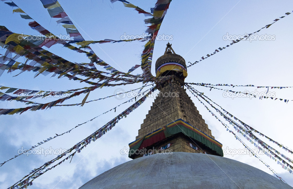 Bouddhanath in the evening, Nepal  Stock Photo #2827216