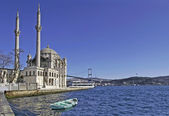 Ortakoy Mosque and The Bosphorus Bridge — Stock Photo