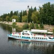 Pleasure boat on the river Southern Bug — Stock Photo #3182556