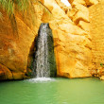 Waterfall in mountain oasis Chebika — Stock Photo