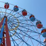 Big wheel in Sevastopol in Historical Parkway — Stock Photo