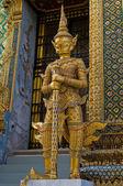 Statue de thaï traditionnel au grand palais — Photo