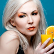 Royalty-Free Stock Photo: Juice girl