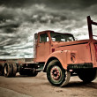 Old and weathered truck - Stock Photo