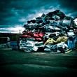 Pile of discarded cars — Stock Photo