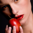 Tamarillo girl - Photo