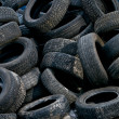 Used car tires — Stock Photo