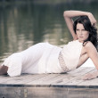 Brunette by the lake - 