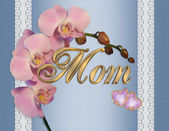 Mothers day card orchids — Stock Photo