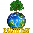 Earth Day Graphic — Stock Photo