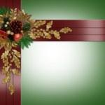 jul gränsen eleganta röda band — Stockfoto