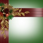 Christmas border elegant red ribbons — Stock Photo