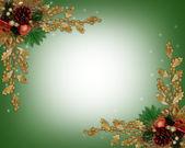 Christmas border elegant — Stock Photo