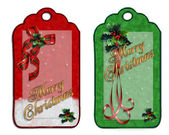 Christmas labels decorations isolated — Stock Photo
