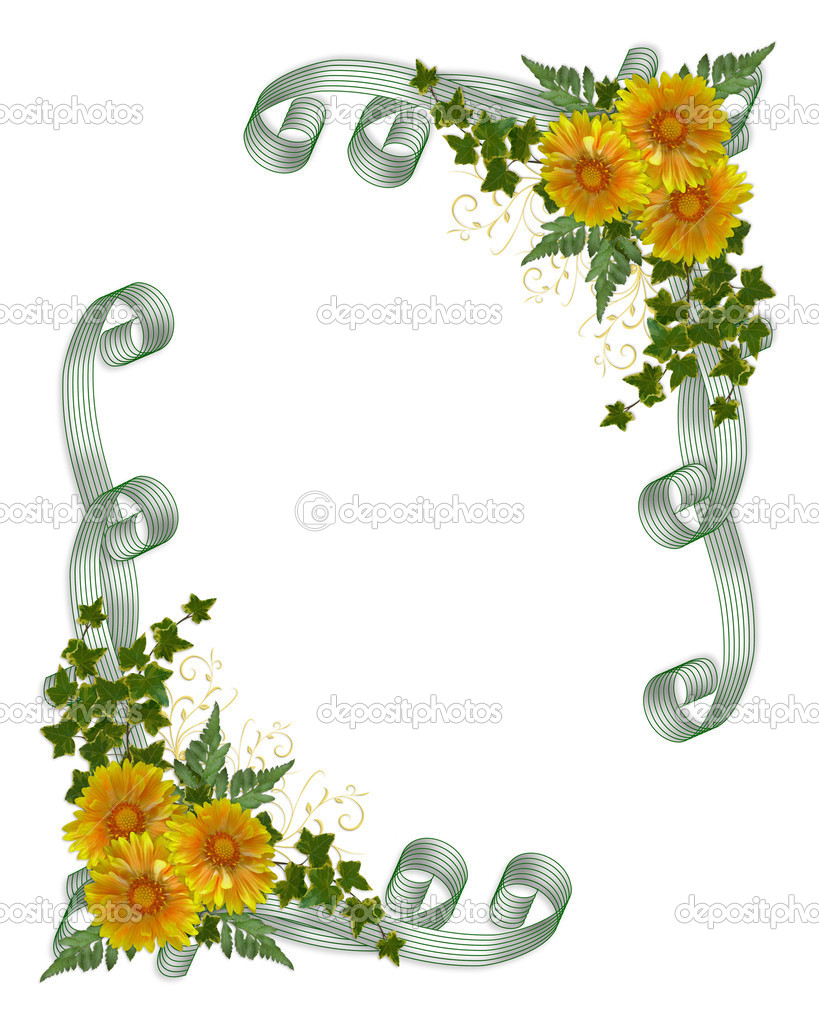 Wedding Flowers Flower Border For Wedding Invitations