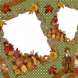 Thanksgiving scrapbook Autumn template - Stock Photo