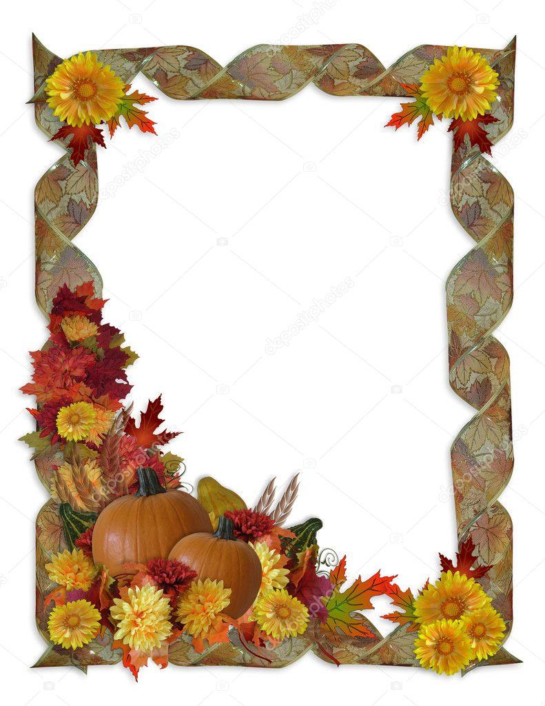 Thanksgiving Autumn Fall Background Stock Photo
