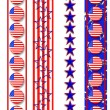 Patriotic borders 4th of July - Stock Photo