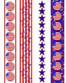 Patriotic borders 4th of July — Stock Photo