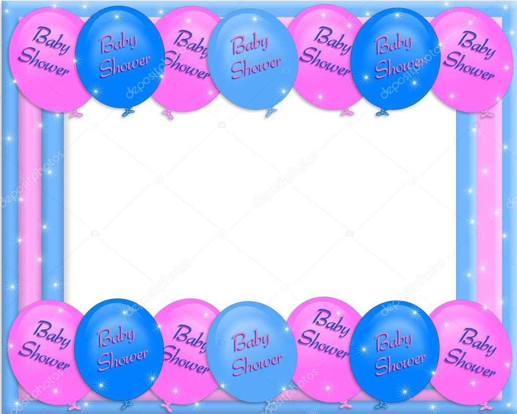 Baby Shower Invitation Borders 1024 x 819
