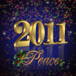 2011 peace New Year background — Stock Photo