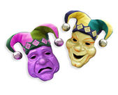 Mardi Gras comedy tragedy masks — Stock Photo