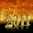 New Year 2011 background - Stock Photo