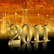 Royalty-Free Stock Photo: New Year 2011 background
