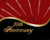 50th Anniversary invitation — Stock Photo