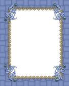 Blue formal invitation border — Stock Photo