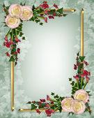 Wedding invitation elegant floral — Stock Photo