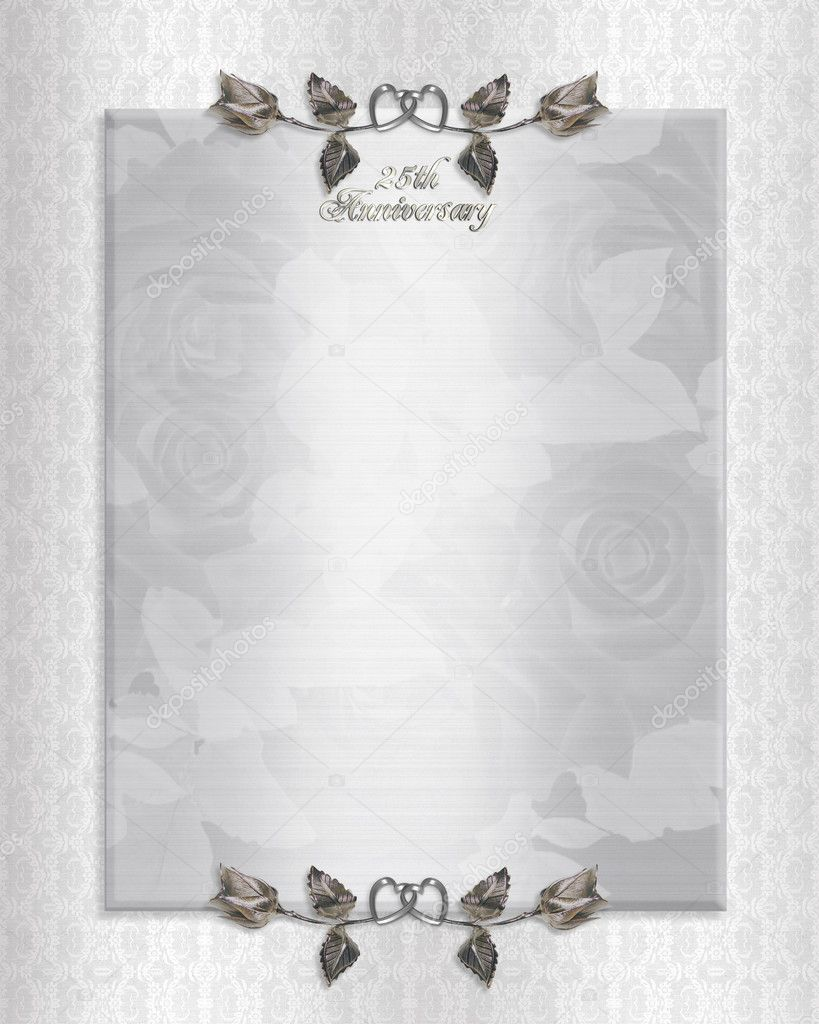 25 Year Wedding Anniversary Invitations