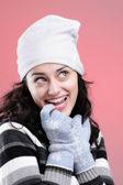 молодая девушка улыбаясь — Стоковое фото
