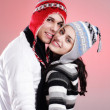 Attractive winter couple — Stock Photo