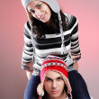 Attractive winter couple - Foto Stock