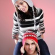 Attractive winter couple - Photo