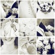 Royalty-Free Stock Photo: Collage of nine wedding photos