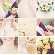 Collage of nine wedding photos — Foto de stock #3033840