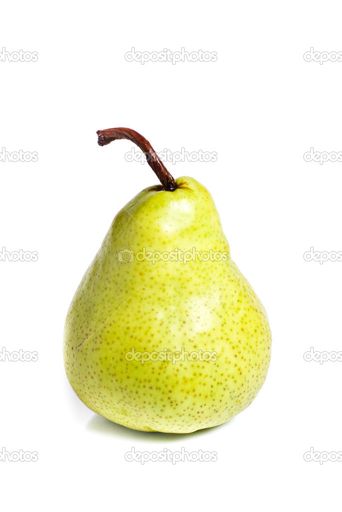Fresh pear fruits isolated on white — Stock Photo #3260698