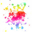 Stock Photo: Colorful paint blot