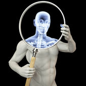 Magnifier x-ray — Stock Photo