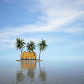 岛 — 图库照片