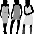 Royalty-Free Stock Vector Image: Three women