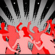 party - the red light — Stock Vector