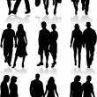 Stock Vector: Couples - profiles of