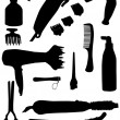 Stock Vector: Hairdressing tools