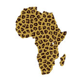 African continent map — Stock Photo