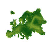 Europe Map Made of Green Grass — Stock Photo