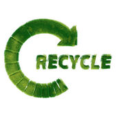 Recycle symbol made of green grass — Stock Photo